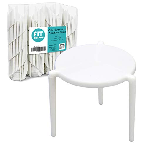 [200 Pack] Pizza Saver Stand - White Plastic Tripod Stack/STAX for Restaurant Container, Catering Boxes and Food Take Out Service