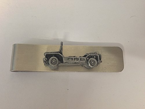 Clip de dinero de acero inoxidable con un emblema de efecto peltre 3D Mini Moke ref146