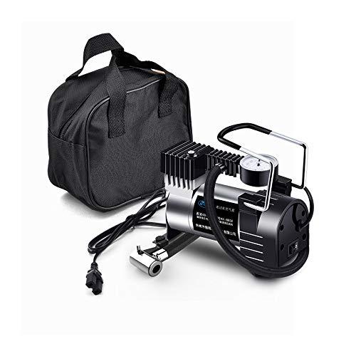 L&K Compresseur portatif de Pneu de gonflage de 100 psi 12V DC de Voiture avec Le manomètre pour la Voiture, Le vélo, Les pneus de SUV, Le dériveur, Le lit d'air etc.
