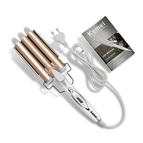 Rizador Herramientas profesionales para el cabello Plancha rizador Cerámica Triple barril Styler Hair Waver Herramientas para el cabello Rizadores para el cabello Curling eléctrico