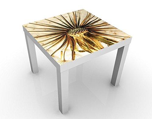 Apalis Table Basse Design Dandelion Close Up 55x55x45cm, Tischfarbe:Weiss;Größe:55 x 55 x 45cm