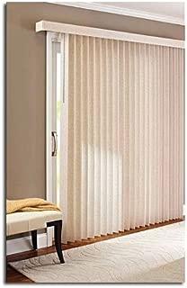 78 x 84 Light Control Durable PVC, Vertical Textured S-Slat Privacy Blinds, Beige