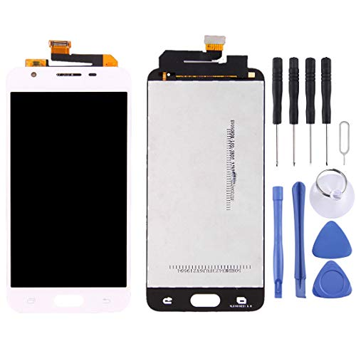 Accesorios de móviles para Samsung Galaxy On5 (2016) / G570 y J5 Prime Pantalla LCD Original Asamblea digitalizador de Pantalla táctil (Color : Blanco)