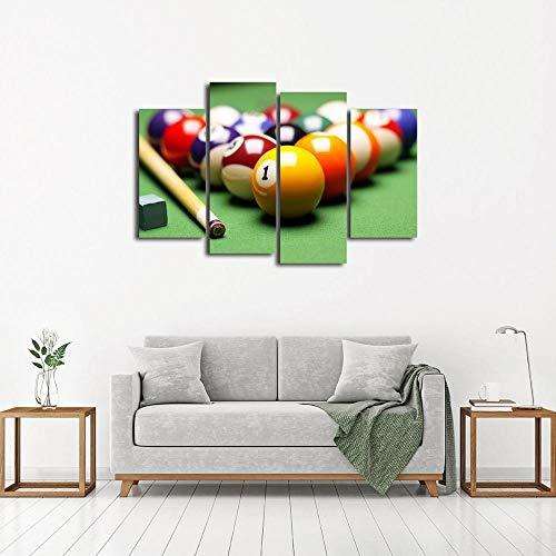 Preisvergleich Produktbild WWWMR Leinwand Gemälde Wandkunst Hd Druck 4 Stücke Ball Bar Und Pool Billard Bilder Wohnkultur Für Wohnzimmer Modulare Rahmen-B