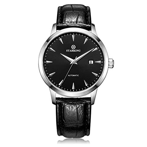 STARKING Top Brand Luxury Automatic Mens Wrist Watch AM0184 Leather Watch Men Casual Style Fashion Waterproof Watches Scratch Proof Male