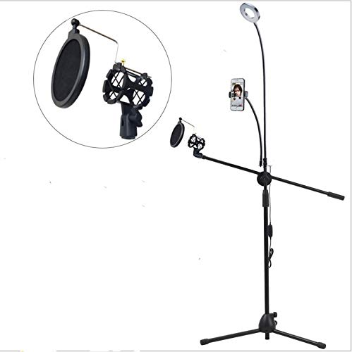 Led-ringlicht voor telefoons met directe verankering, houder voor buitenverlichting, live-Floor-standaard