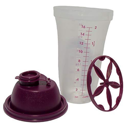 Tupperware 2-Cup Quick Shake Gravy Container in Dewberry Purple