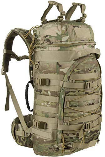 Wisport Trekking Backpack Ladies & Gentlemen | Bushcraft Backpack | Backpack Survival | Camping | Hiking Backpack Big 55L | Camouflage | Cordura | US Multicam | + UP Tubing | Crafter