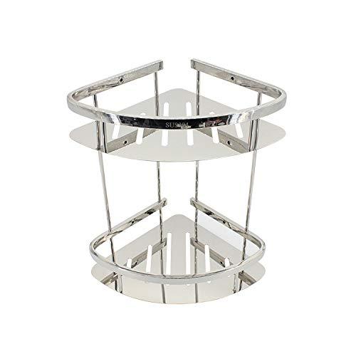 Douche Frame - Badkuip douchebak met 2 haken - Douchemand - geen boren - ruimte aluminium Double-decker Tripod