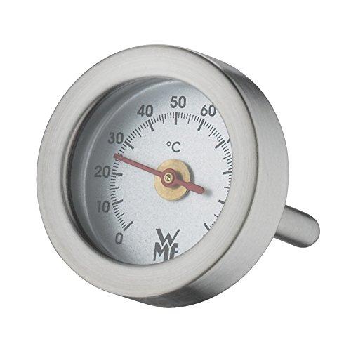 WMF Vitalis Thermometer, Ersatzteil für Dampfgarer Glasdeckel rechteckig, Cromargan Edelstahl poliert, backofenfest