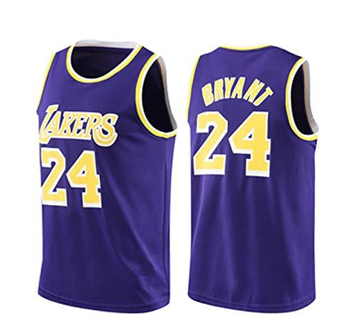 Camiseta de Camiseta de Baloncesto Personalizada Kobe Los Ángeles No.24 Lakers Bryant Mitchell & Ness Hardwood Classic 2008-09 Jersey Secalado rápido Sports Manga co Purple-XXXXL