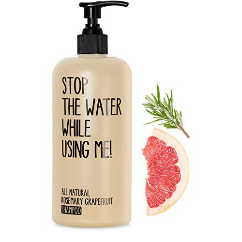 STOP THE WATER WHILE USING ME! All Natural Rosemary Grapefruit Shampoo (200ml), veganes Haarshampoo im nachfüllbaren Spender, Naturkosmetik mit frischem Grapefruit-Duft