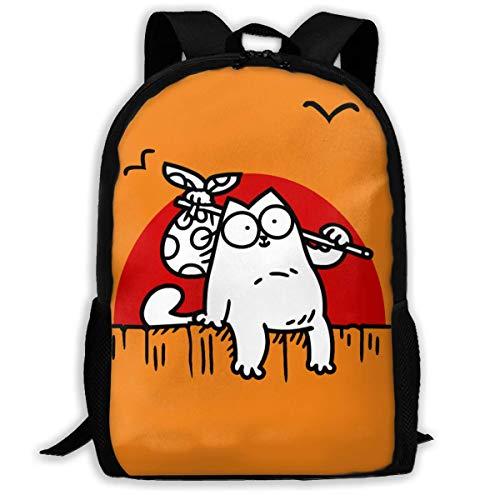 shenguang SI-Mon 'S Cat Schultasche Umhängetasche Reisetaschen Laptoptasche Rucksack für Jungen Mädchen