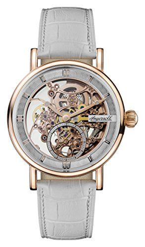 Ingersoll Damen Datum klassisch Automatik Uhr mit Leder Armband I00404