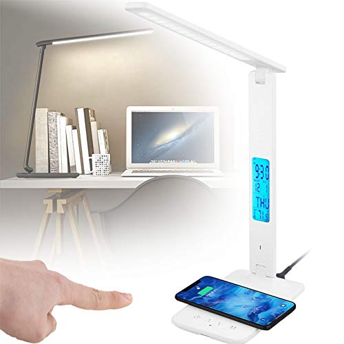WDSZXH Plegable Lámpara Escritorio Led, Cable de Alimentación USB, 3 Modos de Brillo Flexo Led Escritorio, Leds Lámparas Mesa, Lámpara Escritorio Protege a Ojos