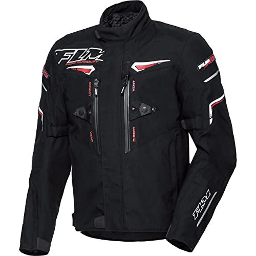 FLM Motorradjacke mit Protektoren Motorrad Jacke Sports Textiljacke 5.0 schwarz XL, Herren, Sportler, Ganzjährig