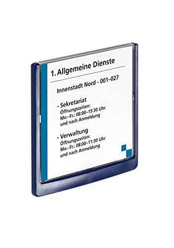 Durable 486207 Click Sign Türschild (149 x 148,5 mm, zum Ankleben oder Anschrauben) dunkelblau