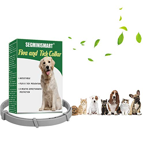 SEGMINISMART Collar Antiparasitos Perros,Collar de pulgas,Collar Antiparasitos para Perros y Gatos,Collar Anti Mosquitos Tamaño Ajustable