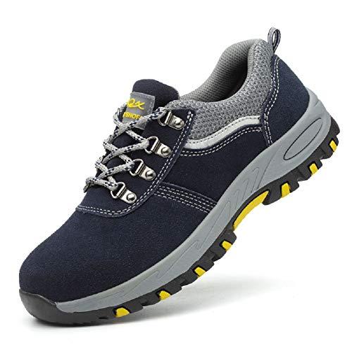 Scopri offerta per Ansel-UK Uomo Donna S3 Scarpe da Lavoro Comodissime Traspiranti Scarpe Antinfortunistiche con Punta in Acciaio Stival Calzature da Cantiere Escursionismo Sneaker di Sicurezza per Industria Edilizia