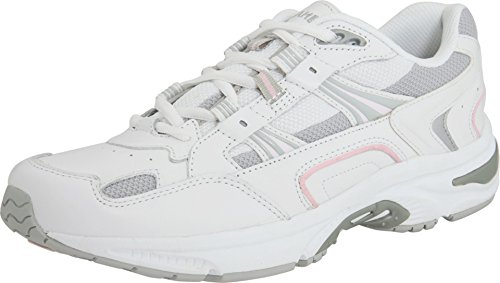 Vionic Women's Walker Classic Shoes, 8 B(M) US, White/Pink