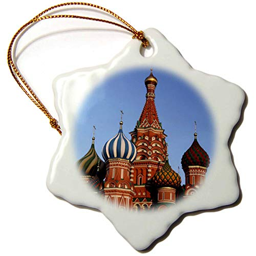 3dRose Russia, Moscow. St Basils Cathedral in Red Square - EU26 KWI0023. - Ornaments (ORN_138748_1)