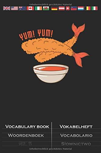 fritierte Shrimps Vokabelheft: Vokabelbuch mit 2 Spalten für Feinschmecker und Fans der asiatischen Küche