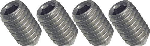 SECOTEC Madenschraube | Wurmschraube für Türdrücker M6x7 mm | 4 Stück | vernickelt