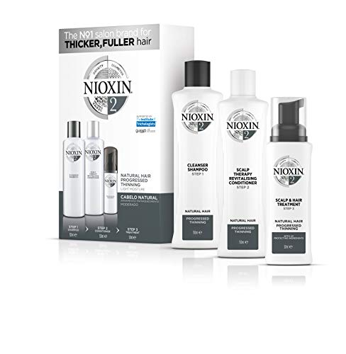 Trial kit Sistema 2 Shampoo 150ml, Condicionador 150ml e Leave-in 40ml, Nioxin, Pequeno