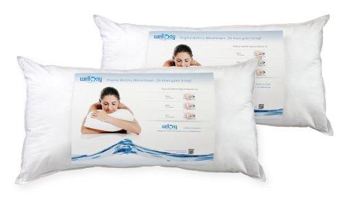 Wellony Premium Wasserkissen, Doppelpack Sparset, 40x80 cm, wei§ - Polster / NackenstŸtzkissen
