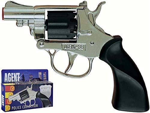 Armi Colpi Villa-Pistola Agent 38 Argento 8colpi
