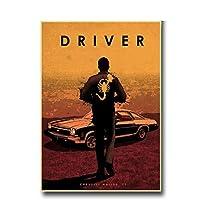 キャンバス絵画の装飾様々な映画の主人公の男と車のポスター映画の壁のポスターハウスバーのリビングルームの装飾的な絵画-50x70cm1pcsフレームなし