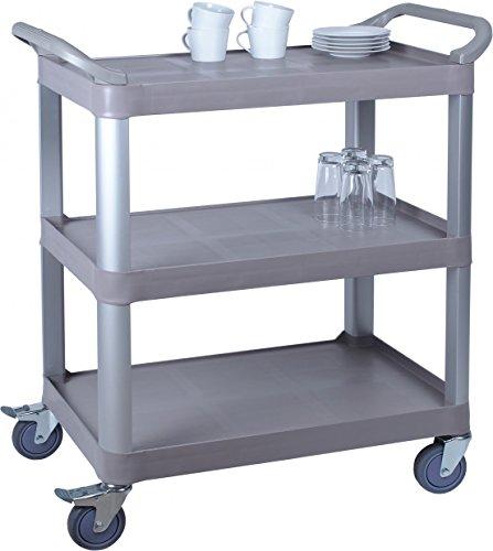 Materiale: plastica, metallo leggero 3mensole, portata max. 100kg 4ruote (2con freno)