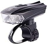 ZHENG Luz Bicicleta Faro de Bicicleta, luz de Bicicleta LED Recargable USB, con Sensor de Brillo Inteligente, Impermeable, Super Brillante, for Montar en Ciclismo y montaña