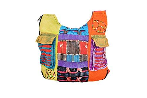 TATTOPANI Bolso largo multicolor de estilo hippie para mujer-BAGS0001S