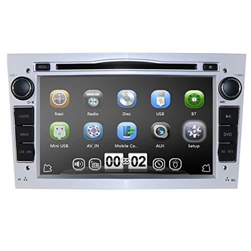 hizpo 7 Pulgadas Car Audio Estéreo En Dash Doble DIN para Opel Vauxhall Corsa Vectra Astra Apoyo Reproductor de DVD de navegación GPS Bluetooth Radio de Coche USB SD