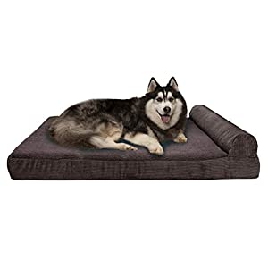 Furhaven Pet – Orthopedic Chaise Lounge, Deluxe L-Shaped Chaise Couch, Luxury Full-Support Sofa, Calming Donut Dog Bed & More Choices for Dogs & Cats – Multiple Styles, Colors, & Sizes