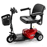 Rascal 3 Wheel Travel Scooter, Lightweight & Durable, Easy Disassembly, Red