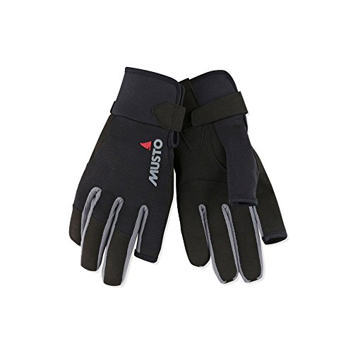 Musto 2018 Essential Segelhandschuhe Sailing Long Finger Gloves Black AUGL002 Size - - Small