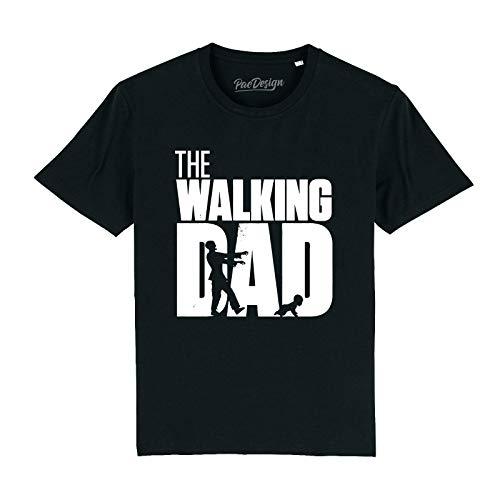 PacDesign T-Shirt The Walking Dad Dead Festa del papà Papa' Nonno Maglietta