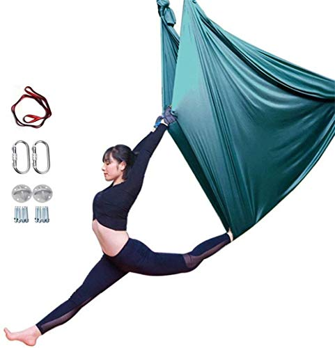 Find Bargain YAOSHUYANG Aerial Yoga Hammock, Aerial Yoga Swing Set, Ultra Strong Antigravity Yoga Ha...