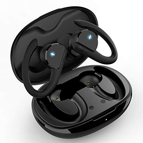 HolyHigh Bluetooth Kopfhörer In Ear Sport IPX7 Wasserdicht Kabellose Kopfhörer Sportkopfhörer Wireless Kopfhörer mit Premium Klangprofil/HD-Mikrofon/36 Stunden Spielzeit
