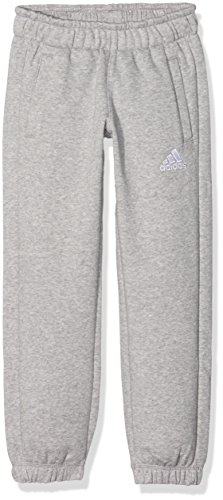 adidas Kinder Sporthose Lang Coref swt pa y Hose, Medium Grey Heather/White, 152