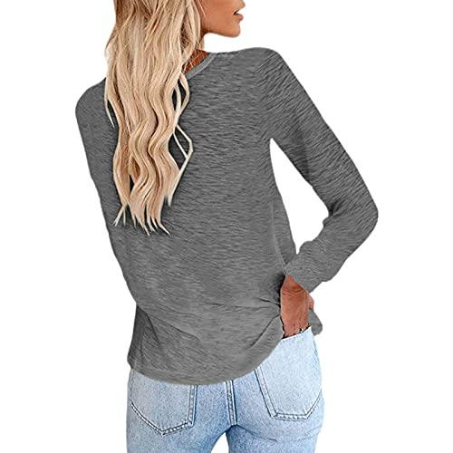 ZGNB Women's T-Shirt Tops Oversized Pleated Blouset-Shirt Women Blouses Loose Langarmshirt Mit V-Ausschnitt Bluse Damen Elegant Bluse Gelb Tunika Elegant Damen Hoodie Jacke Anime Hoodie