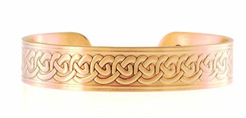 Pulsera de cobre diseño celta de 15 mm de ancho