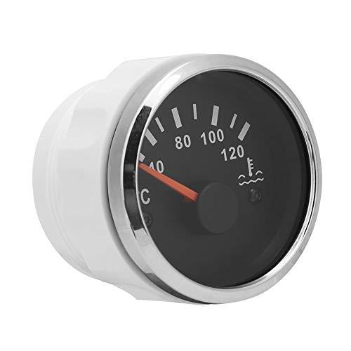 Termómetro electromagnético de agua 52 mm 12~24 V Medidor de temperatura del agua del vehículo 40~120 ℃ para automóviles, barcos, grupos de motores, maquinaria de ingeniería