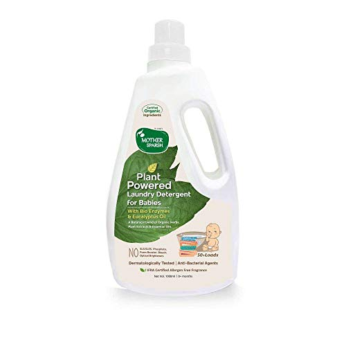 Mother Sparsh Baby Laundry Liquid Detergent (Powered by Plants) with Bio - Enzymes and Eucalyptus Oil, 1l