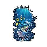 Hai Ozean Meer Tier Jungen Badezimmer Wandtattoo Poster 3D