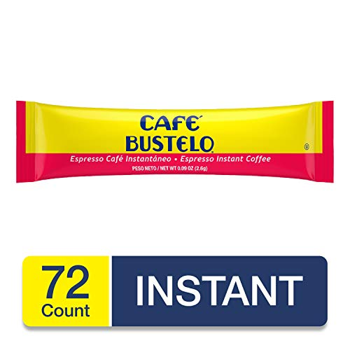 Cafe Bustelo Espresso Instant Coffee, 6 Single Serve Packets, 0.09 Ounce (Pack of 72)