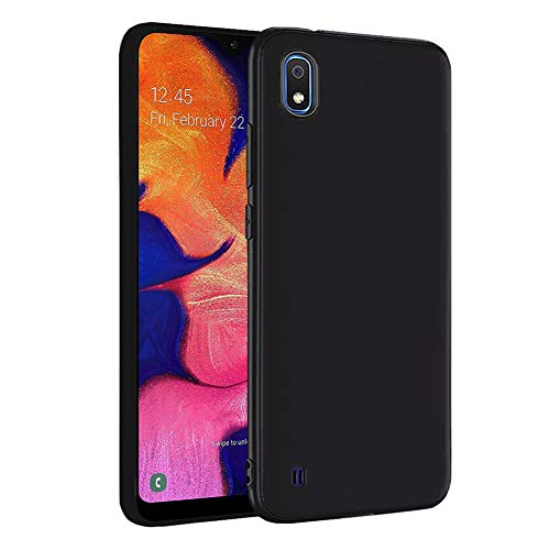 LAYJOY Funda Samsung Galaxy A10, Ligera Carcasa Silicona Suave TPU Gel Bumper Case de Protectora [Antideslizante] [Anti-Golpes] Cover para Samsung Galaxy A10 (2019) 6.2 Pulgadas -Negro