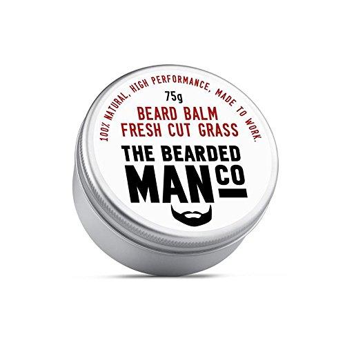 The Bearded Man Company Bálsamo para barba de 30 g – 25 aromas diferentes para elegir nuevo todo natural dejar en acondicionador para hombres. lata de 75 g (hierba fresca)